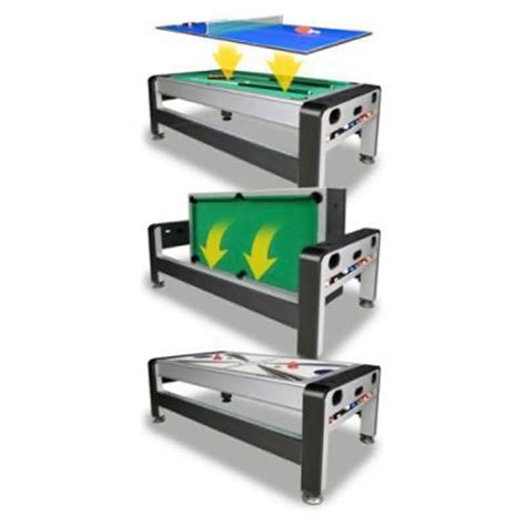 3 in one game table 7 foot 3 in 1 swivel game table