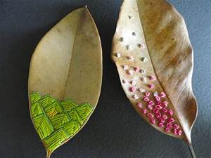 Crafts Made From Leaves Or Thread Design Embroidery  U2013 Diy Is Fun
