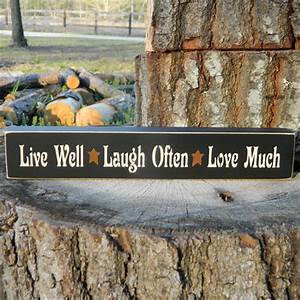Live Laugh Often Love Much : live well laugh often love much wood shelf sign 21 ~ Markanthonyermac.com Haus und Dekorationen