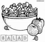 Salad Coloring Fruit Printable Sheet Colorings Vegetables Awesome Fruits Getdrawings Getcolorings sketch template