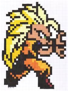 Dragon Ball Pixel Art Grid