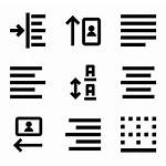 Alignment Icon Library Pictogram Icons
