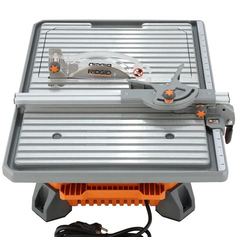 ridgid 7 quot portable job site wet tile saw 6 5 amp induction