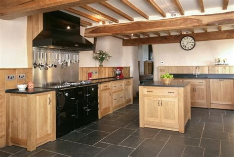 Cottage Style Fireplace by Bespoke Kitchens Cornwall Painted Kitchen Shaker Style