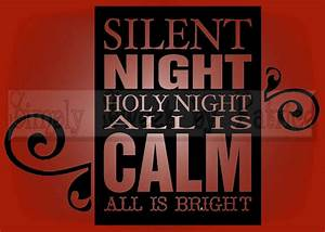 silent night christmas vinyl wall saying lettering quote With vinyl lettering decals for crafts