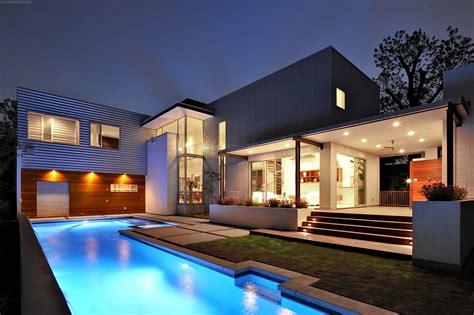 Modern Mansion With Pool Wallpaper Iphone Hd Desktop
