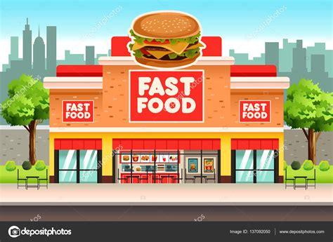 fast food cuisine restaurante de comida rápida archivo imágenes