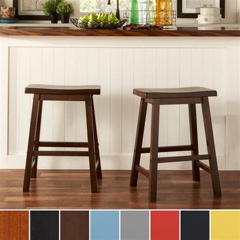 Counter Height Barstools by Counter Height Barstool 24in Walnut Saddle Back Set Of 2
