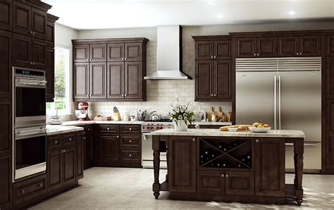 unfinished kitchen base cabinets springfield mocha glaze all wood cabinets