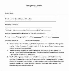 7 commercial photography contract templates free word With photographer contracts templates