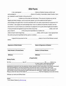 Free i owe you iou template pdf eforms free for How to write an iou template
