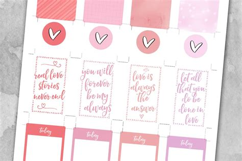 I have one more valentine's day svg for you! Valentine's Day Planner Stickers - Love Paper Crafts