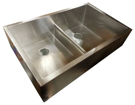 seamless kitchen sink bowl apron sink with patented seamless drain 2142