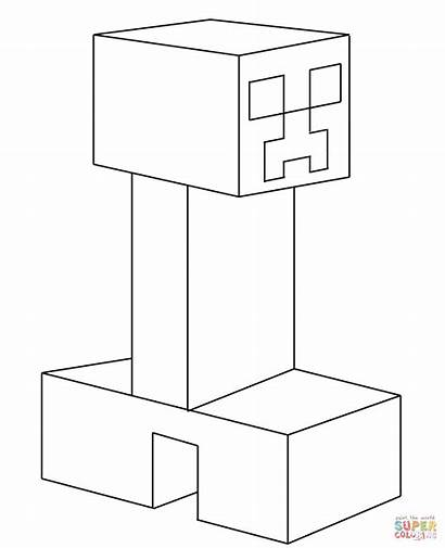 Creeper Minecraft Coloring Wither Printable Ausmalbilder Colorare