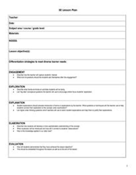 learning cycle lesson plan template 1000 images about 5e lp on