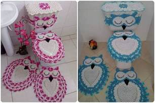 crochet owl bathroom set with free pattern