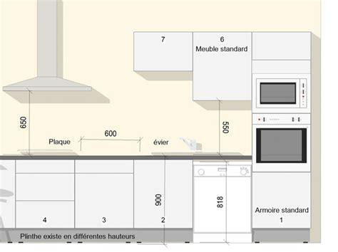 hauteur comptoir cuisine a quelle hauteur les meubles hauts ou à quelle hauteur la hotte les distances à respecter dans