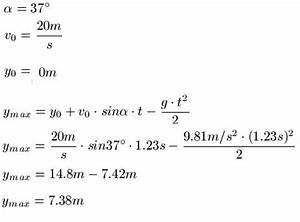 Schräger Wurf Anfangsgeschwindigkeit Berechnen : schr ger wurf physik ~ Themetempest.com Abrechnung