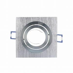 Spot Carré Led : support spot led orientable et clipsable carr 92 argent ~ Edinachiropracticcenter.com Idées de Décoration