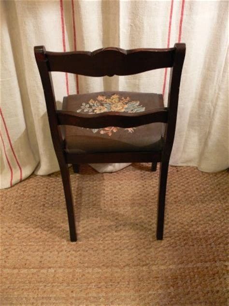 pair reproduction duncan phyfe dining chairs patina