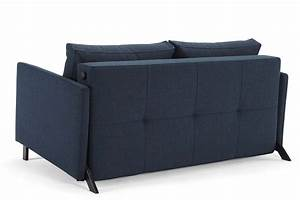 Cubed 140 with arms sofa bed from innovation denmark for Sofa bed extension
