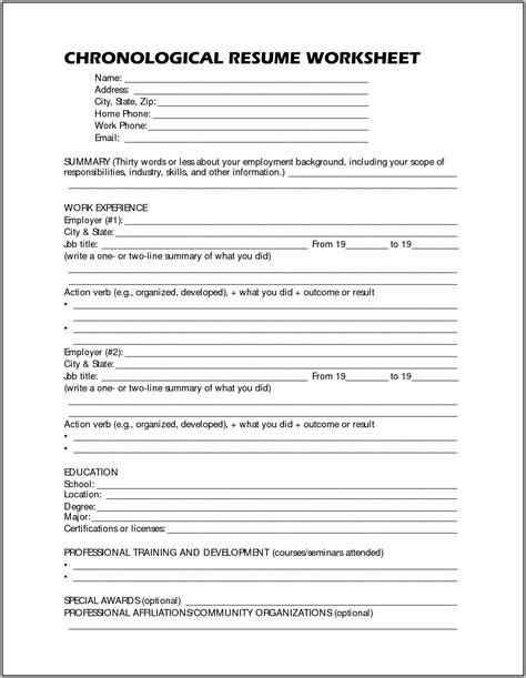 Printable Free Resume by Free Printable Resume Worksheet Shop Fresh