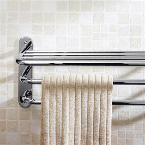 tier towel rack chrome finish bathroom accessory fixture