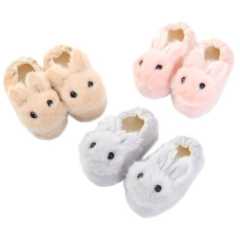 winter girls warm cute rubbit kids slippers children