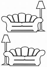 Sofa Coloring Pages sketch template