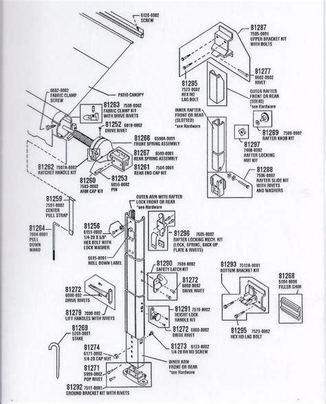rv awning parts diagram dometic awning parts diagram