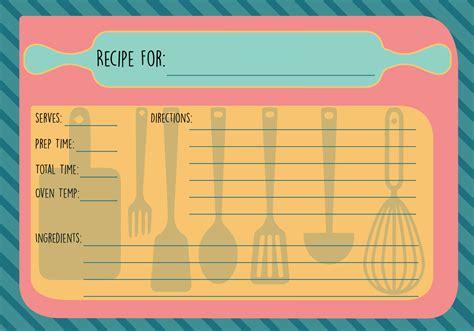 recipe card vector   vectors clipart