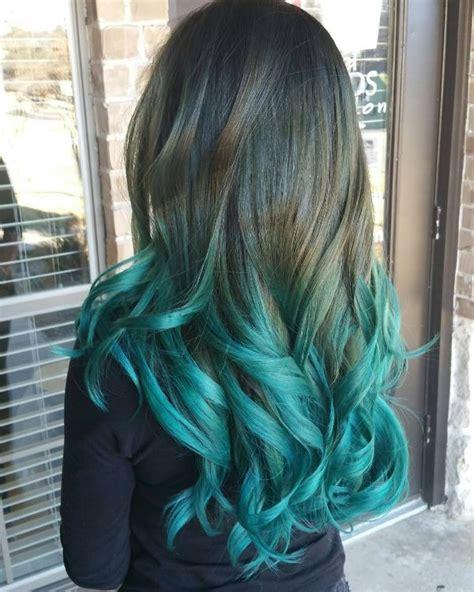 black ombre hair color ideas     august