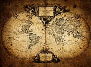 1752 Vintage World Map Wallpaper Wall Mural by LoveAbode.com
