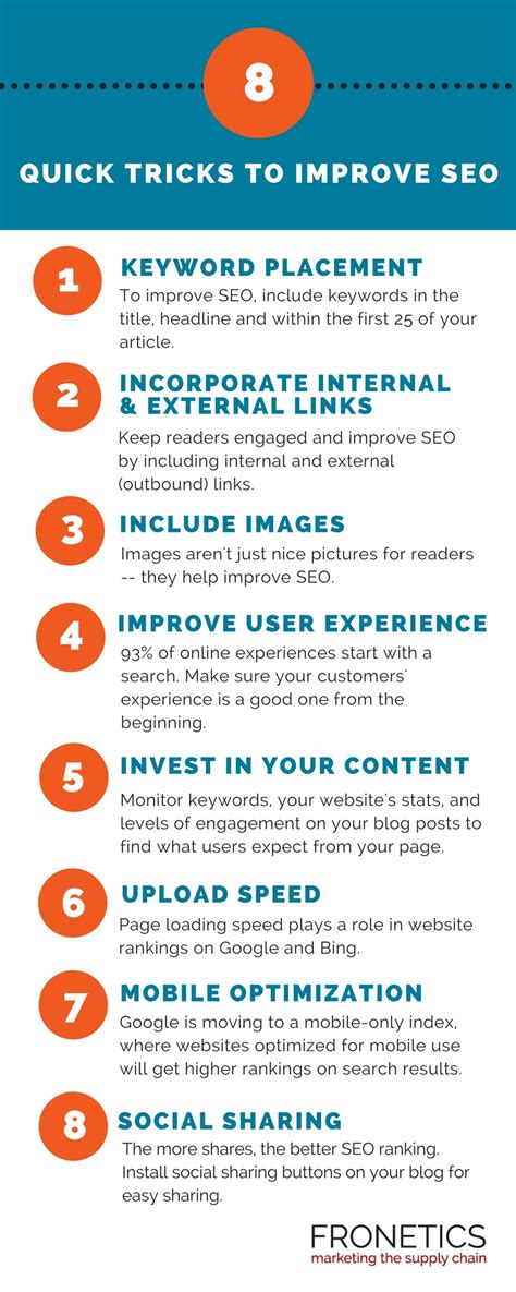 Infographic Quick Tips Improve Seo For Your Blog