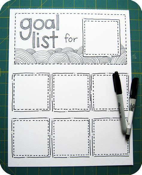 goal list template scrap n a snap designs organize your goals