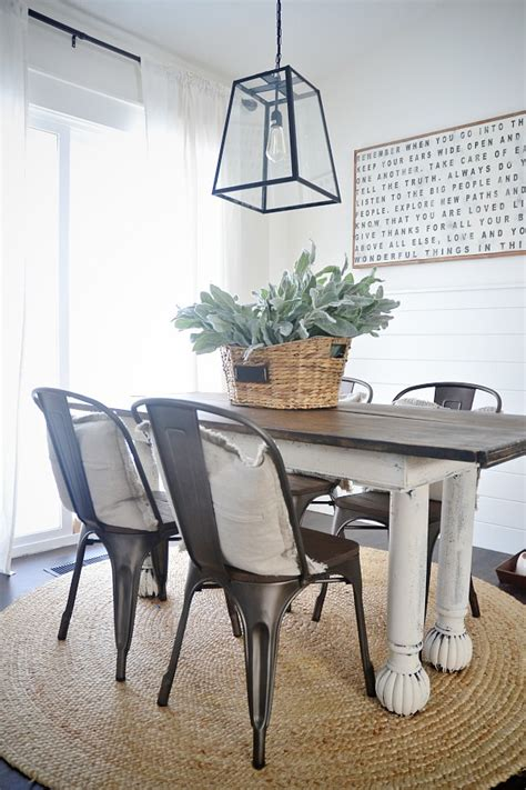 farm table with metal chairs new rustic metal and wood dining chairs liz marie blog