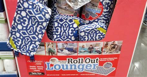novaform home roll out memory foam lounger costco weekender