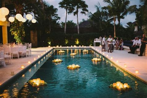Pool Decoration by Waterside Destination Wedding In Bali Our Awesome Day