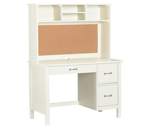 kids white desk with hutch kendall desk hutch pottery barn kids