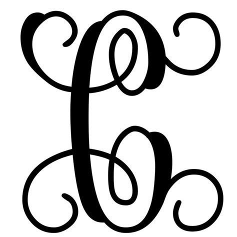 letter c monogram template vine monogram letter c initial initials monograms and
