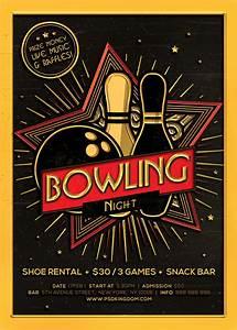 Bowling, Night, Flyer, Magazine, Ad, On, Behance