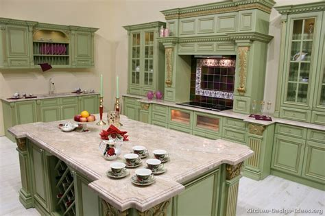 green kitchen ideas pictures of kitchens traditional green kitchen cabinets