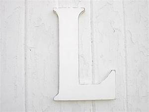 wooden letters l 12 inch white initial rustic sign cottage With white wooden letters for wall