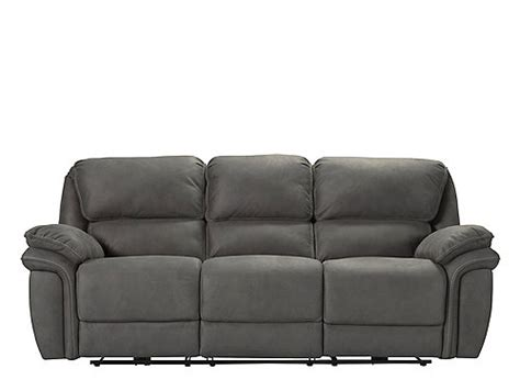 Skye Microfiber Power Reclining Sofa Gray Raymour
