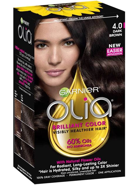 olia ammonia  permanent hair color dark brown