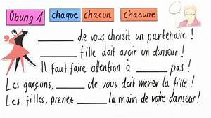 Ich Möchte Französisch : wie verwende ich chaque und chacun bungsvideo franz sisch online lernen ~ Eleganceandgraceweddings.com Haus und Dekorationen
