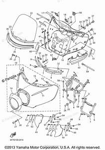 Yamaha Motorcycle 2003 Oem Parts Diagram For Cowling 1