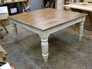 5' Square Pine Farmhouse Table