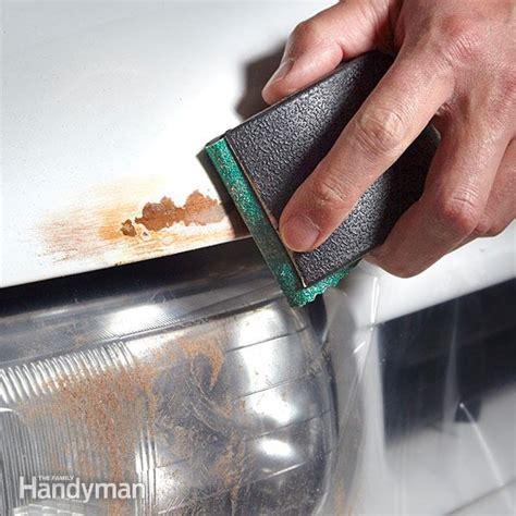 rust repair paint vehicle hood repairs automotive body fix metal cars truck washing spots familyhandyman remove sheet chip steel protection