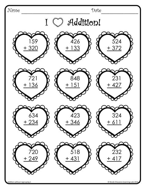 Valentine's Day Math  2nd Grade Math  Math Classroom, Math, Fourth Grade Math